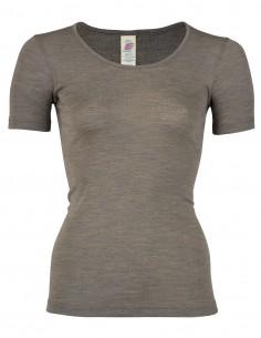 Damen Shirt Kurzarm Seide...
