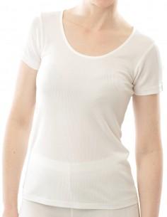 Seiden Damen Ripp T-Shirt...